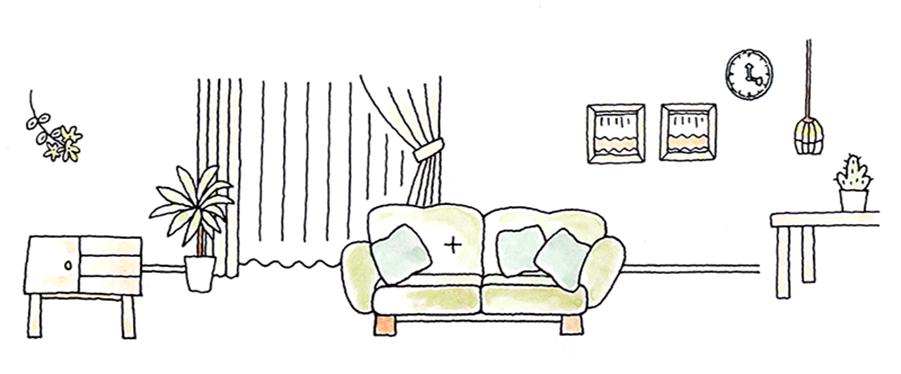 お部屋のイラスト